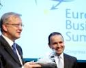 EU Commissioner Olli Rehn - B. Kaleagasi