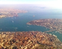 Istanbul from plane 2001