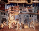 Siena Effects of Good Government on the City Life (detail) 1338-40 Fresco Palazzo Pubblico, Siena